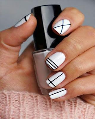 Decoración de uñas GEOMÉTRICAS originales de moda