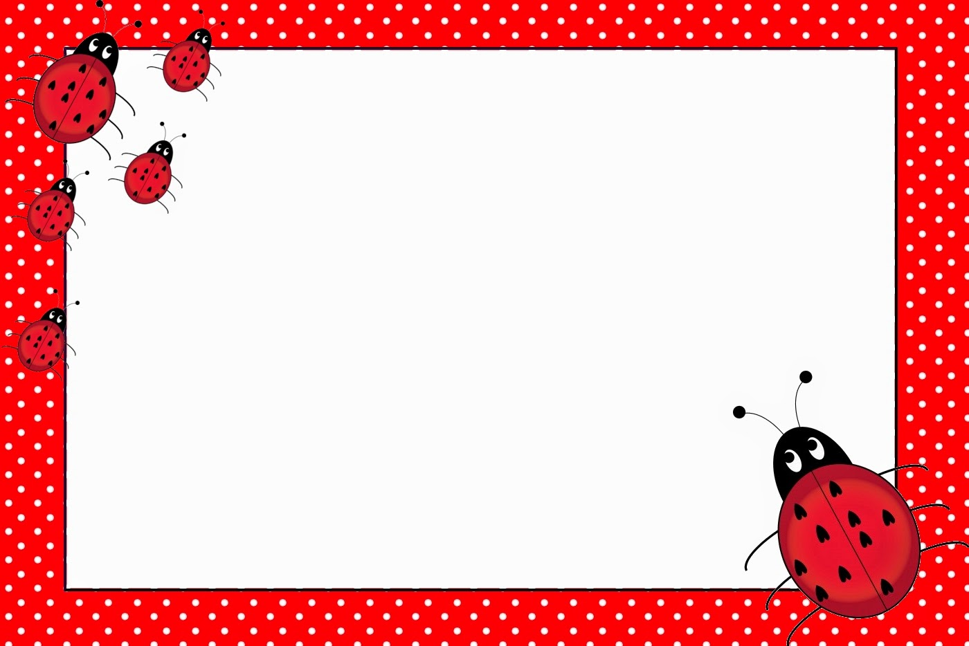 Ladybugs Free Printable Invitations