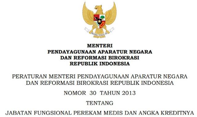 Permenpan No 30 Tahun 2013