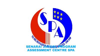 Senarai Jadual Program Assessment Centre (PAC) SPA 2018