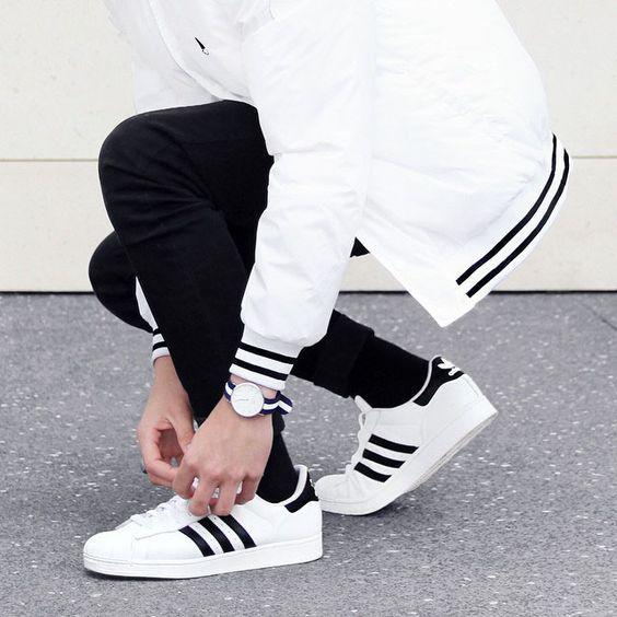 look masculino com adidas star