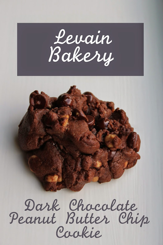 Sprinkled With Confetti: Dark Chocolate Peanut Butter Chip Cookie