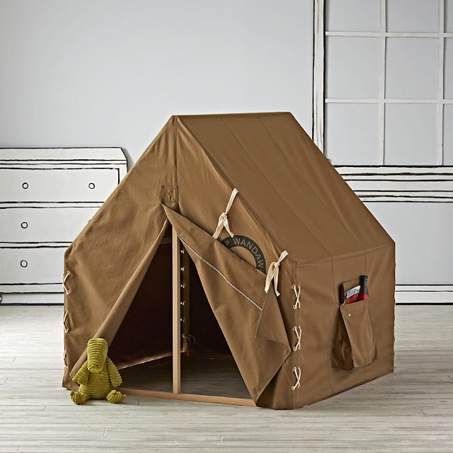 Italian Canvas Tent Veranda Decorated In Different Styles: Camp Wandawega X Land Of Nod Explorer Playhouse