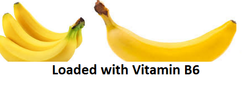 Health Benefits of Banana fruit - Loaded with Vitamin B6