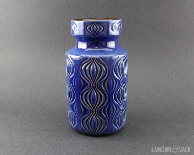 blue Scheurich onion vase