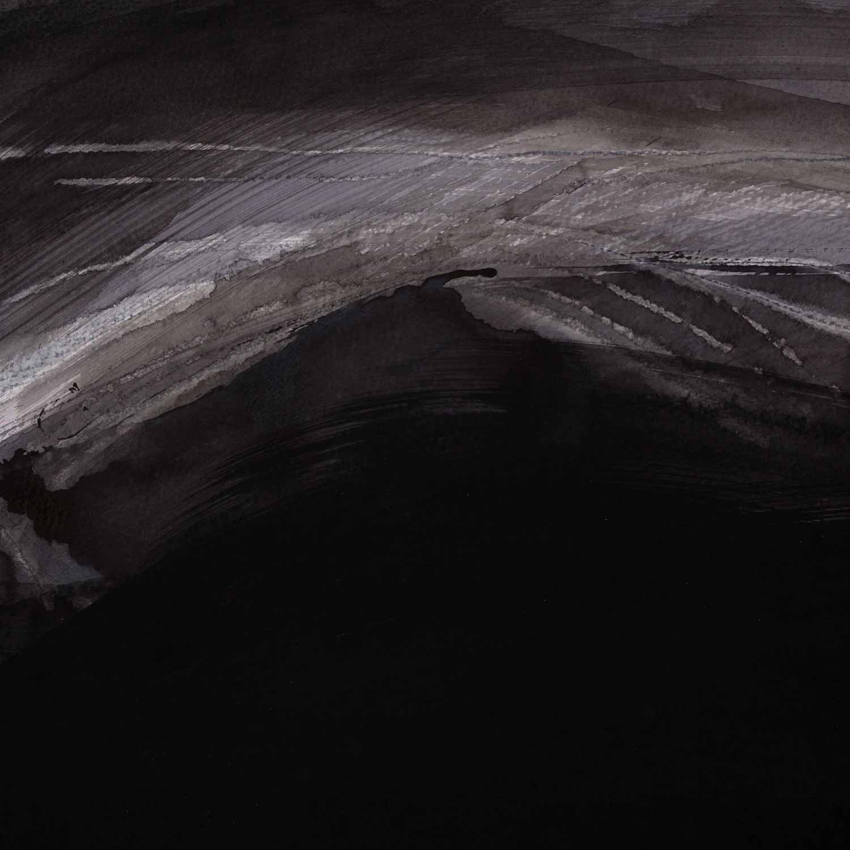 30 x 30 cm, acrylique et crayons sur papier Arches noir. 12 nov 14