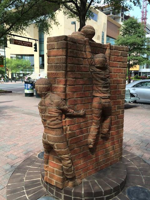Charlotte North Carolina - Art - Book made out of bricks