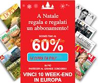 Logo RCS ti regala il Natale con sconti fino al 60% e vinci 10 weekend in Europa