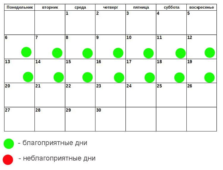 лунный календарь на июню 2016 больничный