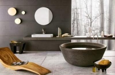 contoh desain kamar mandi minimalis terbaru