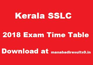 Kerala SSLC Time Table 2018 Download, KSEB 10th Date Sheet 2018