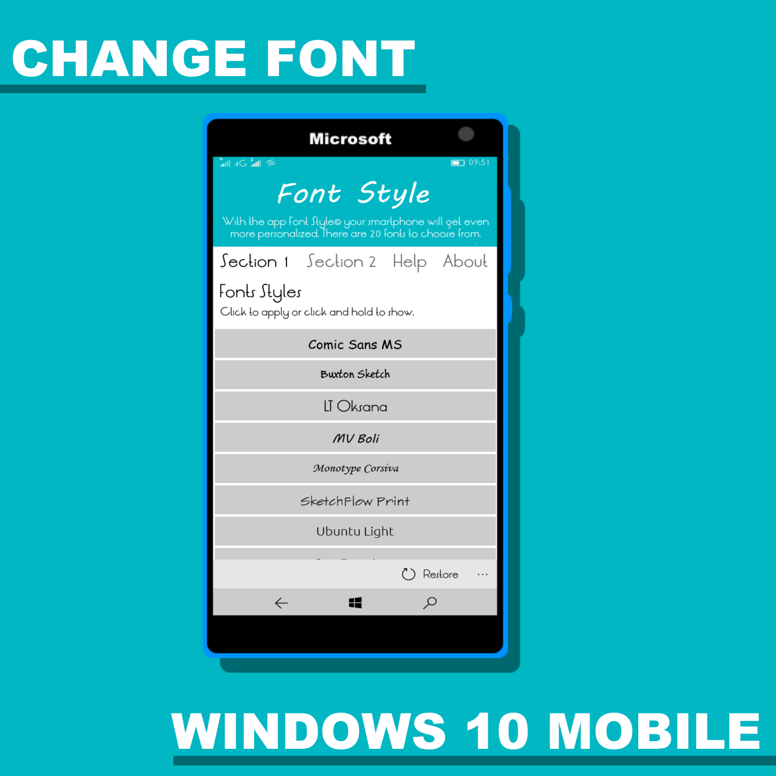 how to change font on windows 10