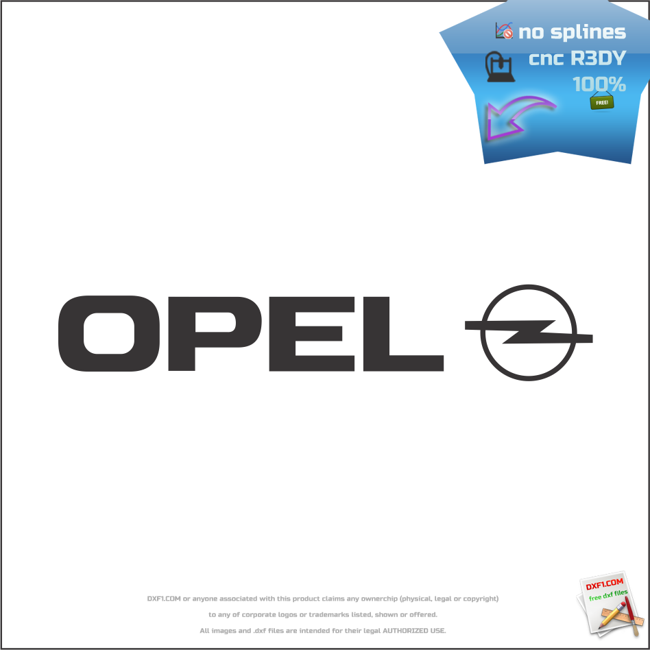 Free Dxf Files For Cnc Machines Opel Logo Cnc Dxf File