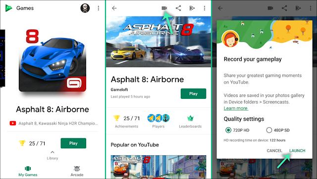 تسجيل الألعاب علي الهاتف بواسطة google paly games