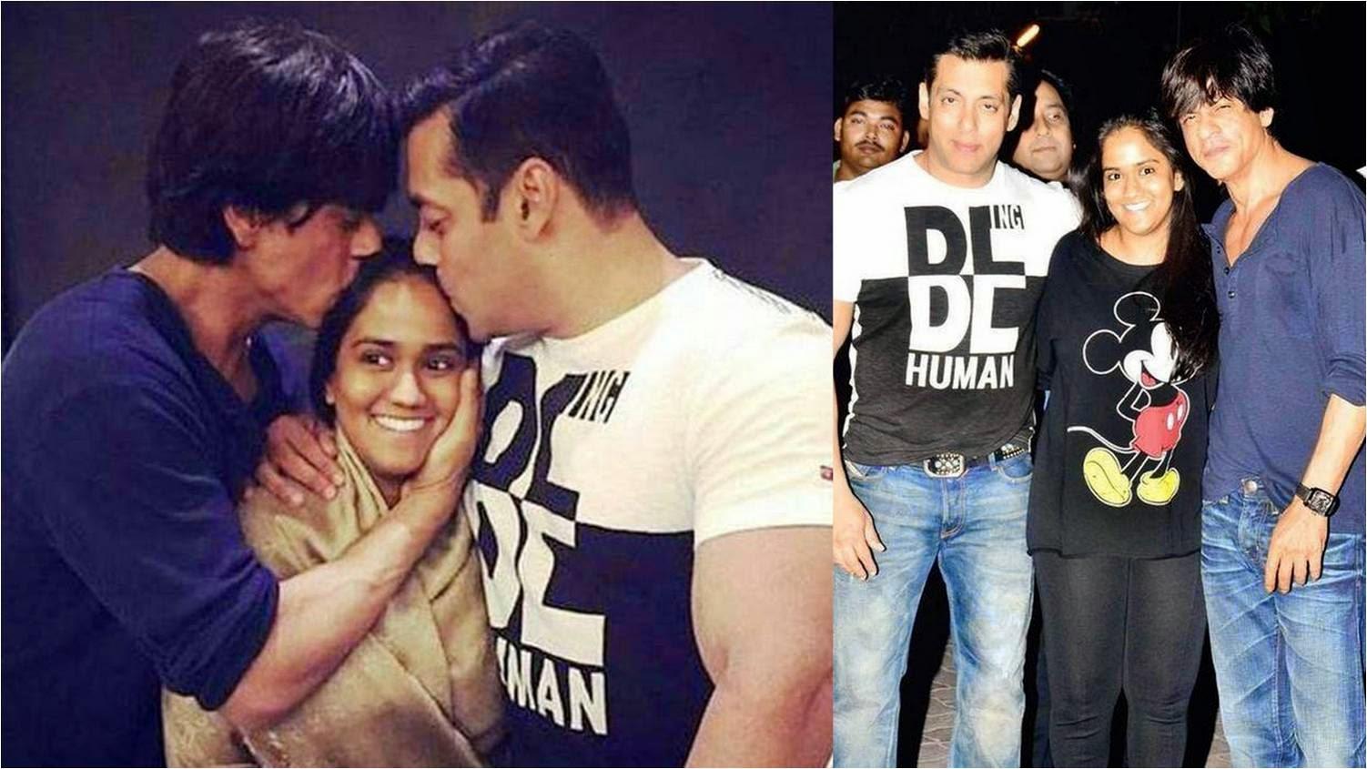 Shahrukh Khan and Salman Khan together at Salman's sister's wedding