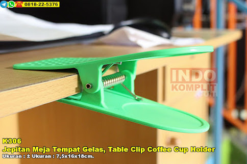 Jepitan Meja Tempat Gelas, Table Clip Coffee Cup Holder