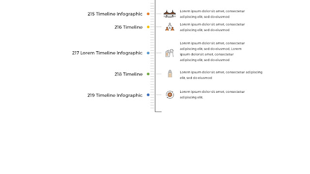 Free Infographic Vertical Timeline PowerPoint Template Slide 3