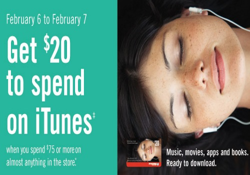 Shoppers Drug Mart Free $20 iTunes Card