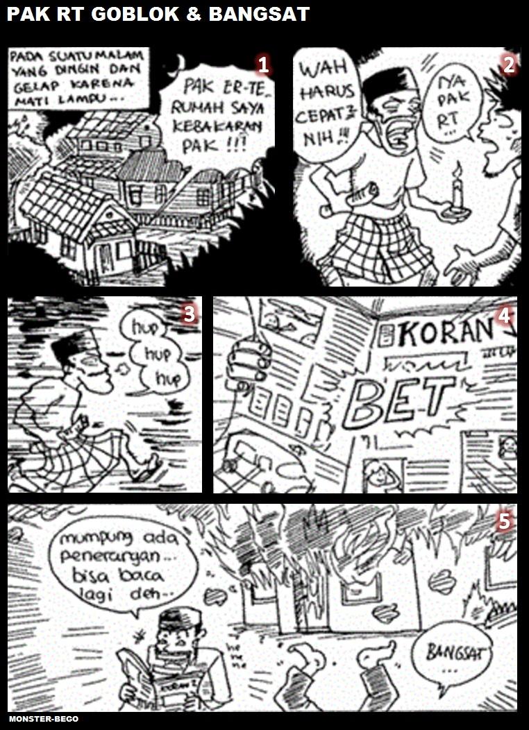 Monster Bego Komik Super Bego Super Lucu Karya Anak Indonesia
