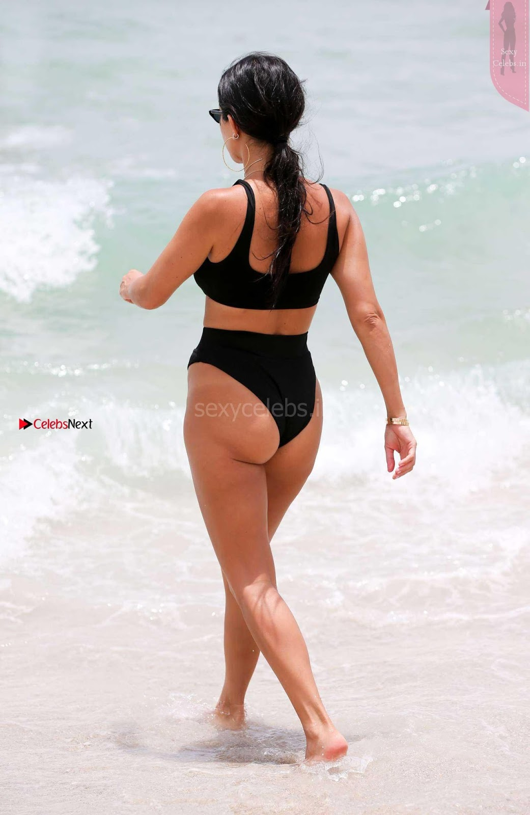 Kourtney Kardashian proud owner of Most beautiful Ass in Black Bikini and White Bikini in Miami