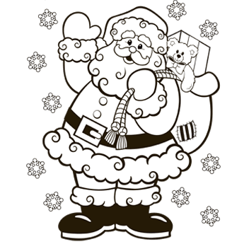 for Santa coloring pages pdf