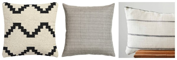Mix and match geo pillow combination