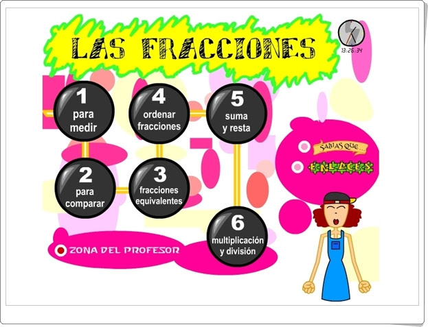 """""""Las fracciones"""" (Matemáticas de Primaria)"""