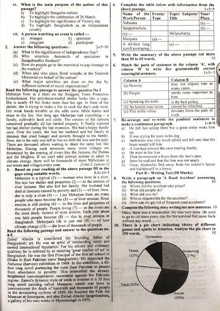 SSC English 1st Paper Model Model Question - 03