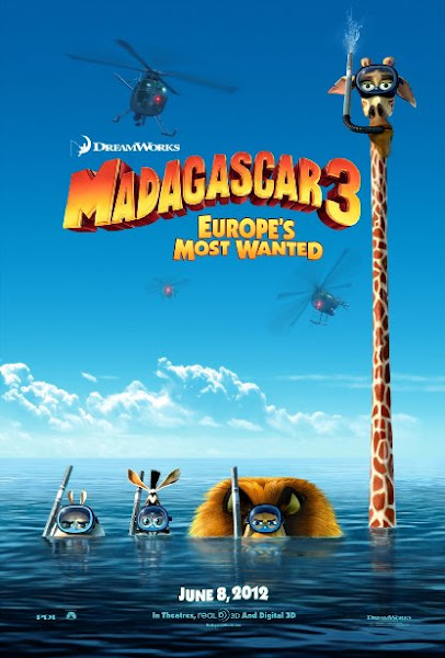 Poster Of Madagascar 3 Europe's Most Wanted 2012 720p BRRip Dual Audio