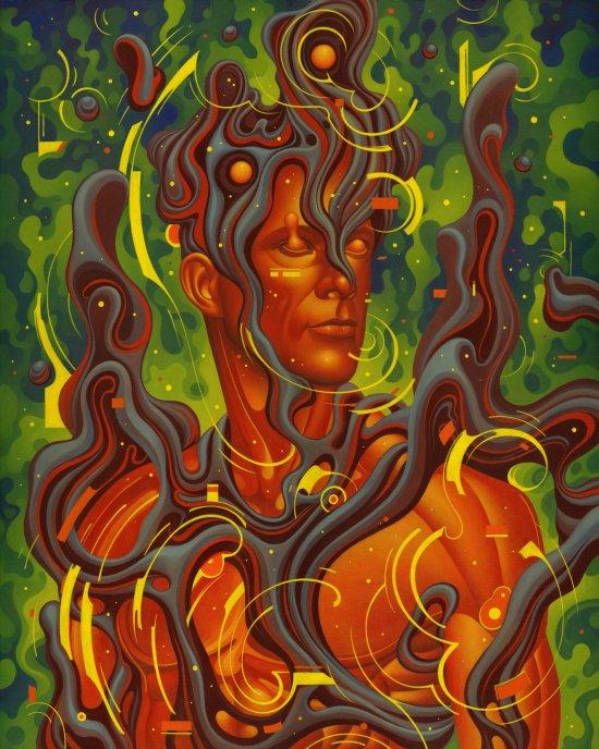 Boris Pelcer arte pinturas surreais acrílico digital ilustrações cores psicodélico