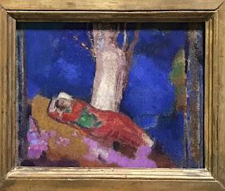 The Hermitage Museum's tempera on canvas by Odilon Redon entitled 'Woman asleep beneath a tree', 1900/01
