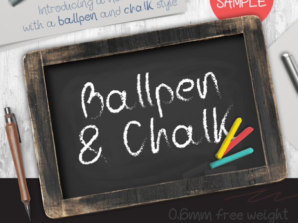 Download Ballpen and Chalk Font Free