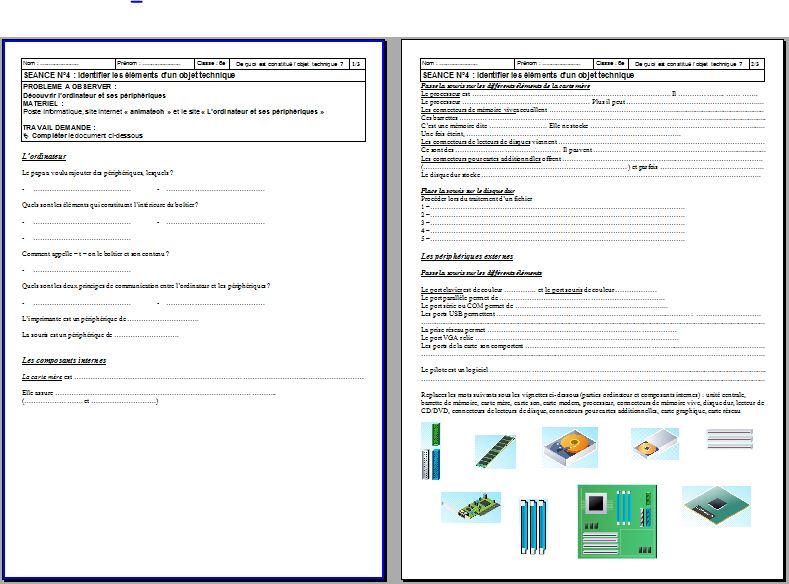 technologie evaluation 6eme