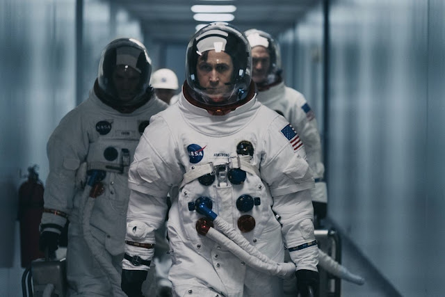 "Ryan Gosling shoots for the moon in ""First Man""."