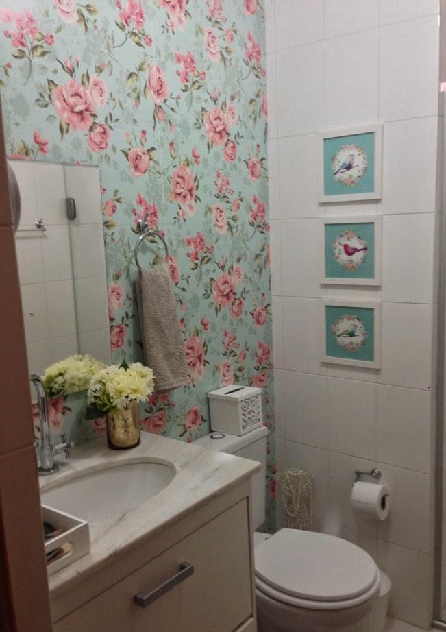 Blog achados de decora o como aplicar papel de parede - Papel vinilico para paredes ...