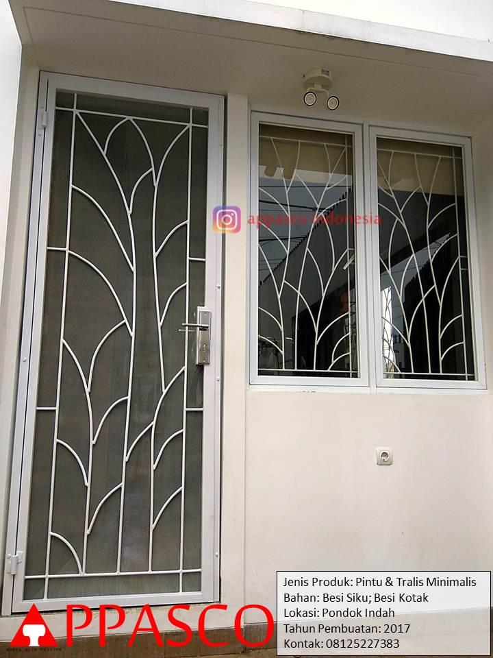 Pintu Besi dan Teralis Minimalis di Pondok Indah