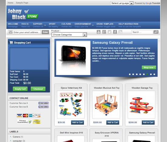 Top những Template Blogspot bán hàng chuyên nghiệp miễn phí cực đẹp