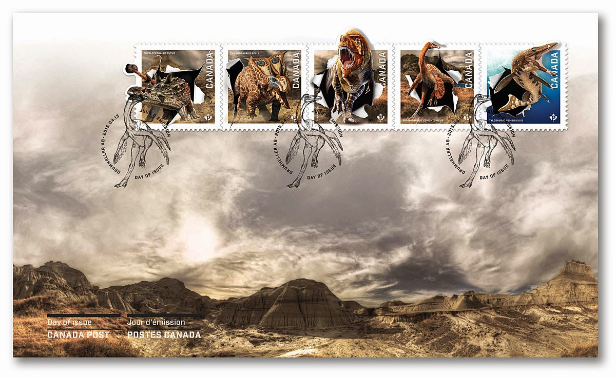 DINOSAURS: SOUVENIR SHEET - www. collectorzpedia.com OFFICIAL FIRST DAY COVER (FDC)