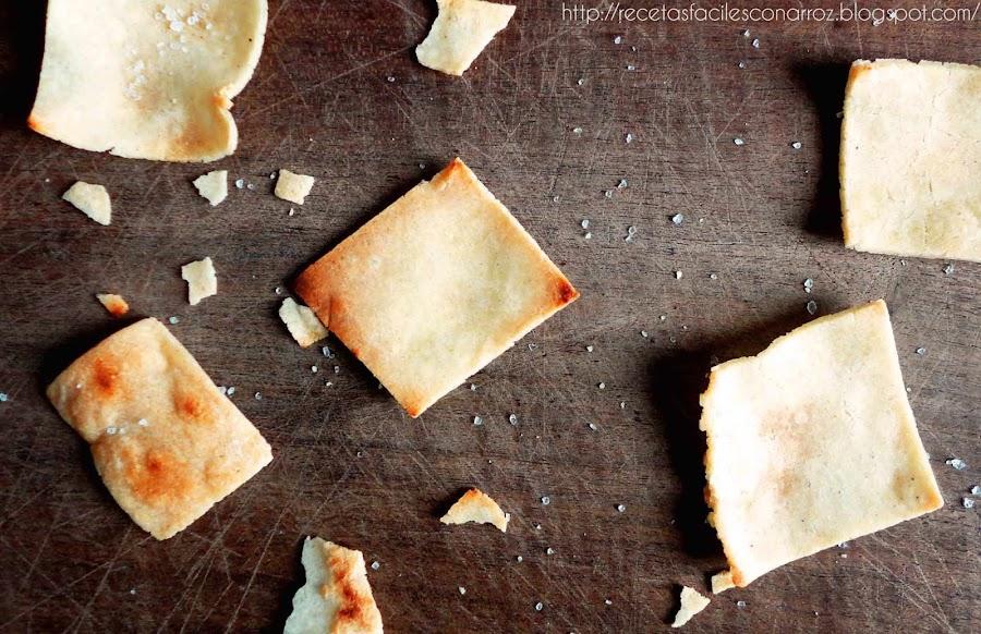 crackers de arroz sin gluten