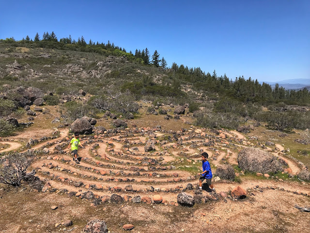 Rock maze on Table Rock Hike