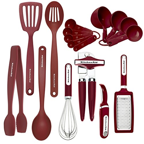 KitchenAid 17-piece Red Tool Set Dishwasher Safe