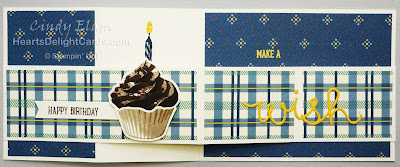 Heart's Delight Cards, Sweet Cupcake, Cupcake Cutouts, Stamp Review Crew - Sweet Cupcake, Masculine Birthday, Stampin' Up!
