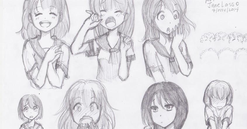 Dibujos Y Sketches De Jane Lasso Enero 2015: Dibujo: Práctica De Expresiones Manga