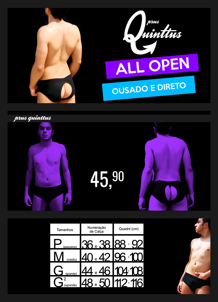 Cueca All Open Aberta Prus Quinttus