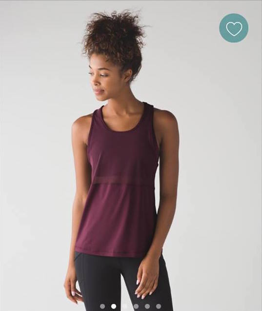 lululemon fast-as-light 2-in-1 tank bordeaux
