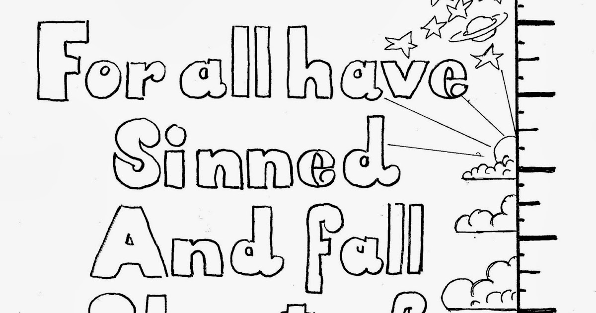 Coloring Pages for Kids by Mr. Adron: Romans 3:23, For All
