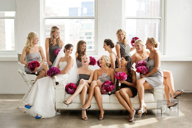 3 color bridesmaid dresses