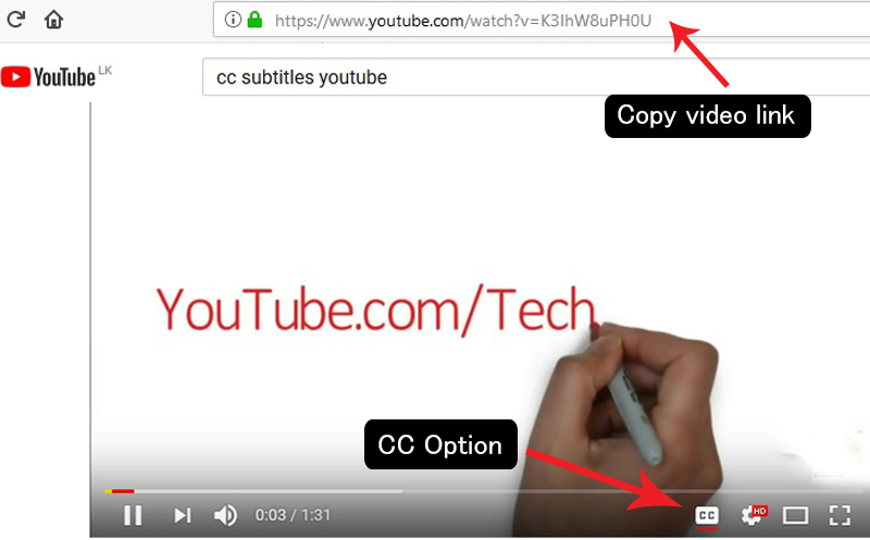 How to download youtube video with with subtitles any language now go to youtube and copy link which video you want download with subtitle it should contain the cc option ccuart Choice Image