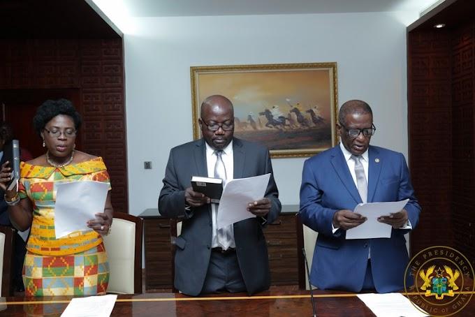 President Akufo-Addo Swears In 3 New Envoys