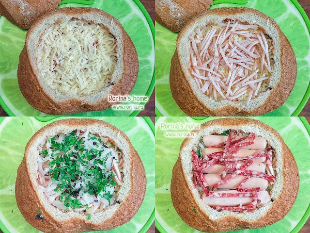 Фаршированный хлеб: рецепт